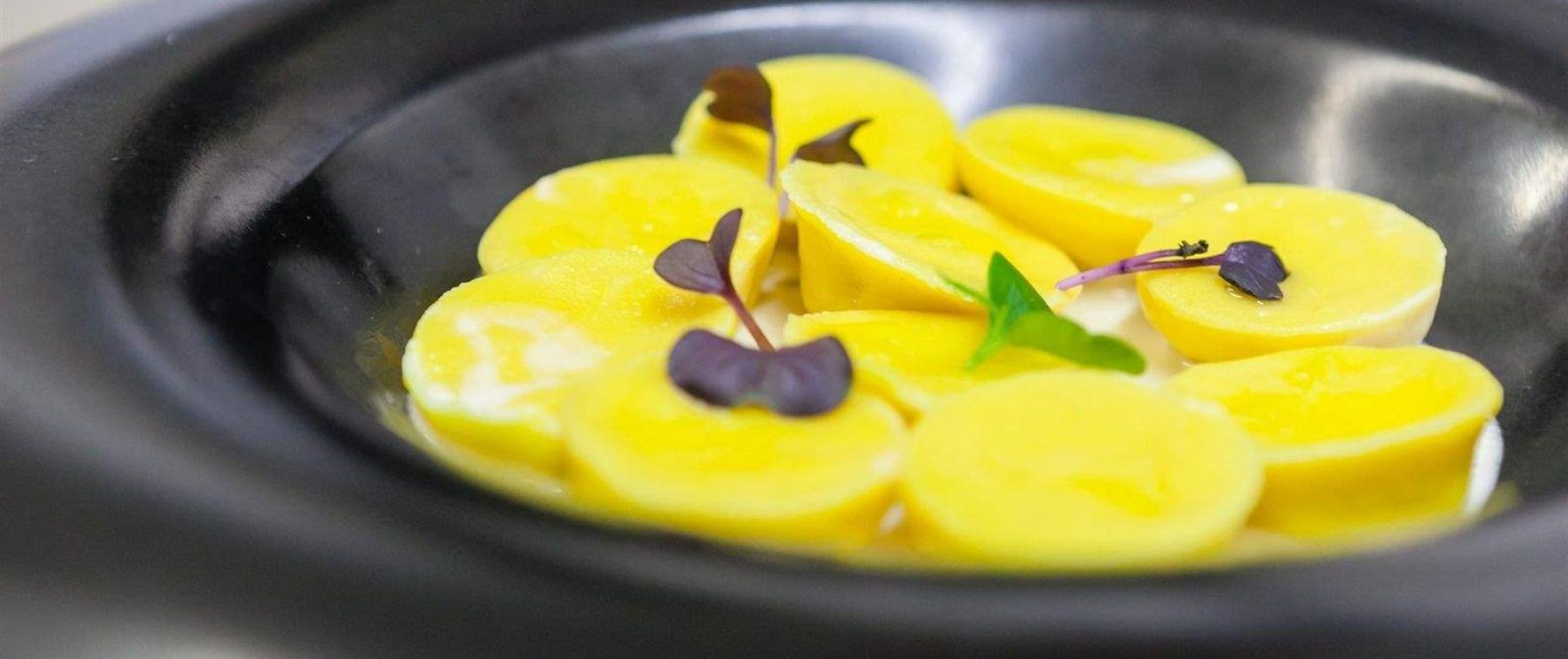 Yellow pasta dish